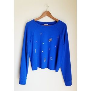 Juicy Couture Blue Cropped Sweater size XL
